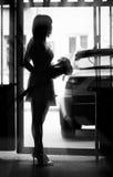 Silhouette of girl Stock Photos