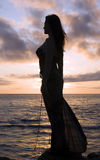 Silhouette Girl Royalty Free Stock Photo