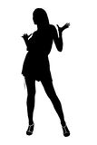 Silhouette of the girl Stock Photos