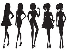Silhouette of the girl. Silhouette of the beauty girl Royalty Free Stock Photos