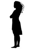 Silhouette of a girl Stock Photos