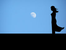 Silhouette of girl Royalty Free Stock Photos