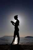 Silhouette of a girl Royalty Free Stock Photo