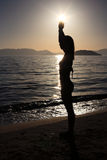 Silhouette of a girl Stock Photography