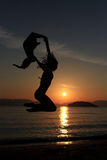 Silhouette of a girl Stock Image