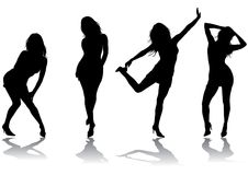 Silhouette Girl Royalty Free Stock Image