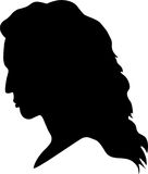 Silhouette of girl Stock Photography