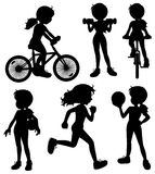Silhouette girl Stock Images
