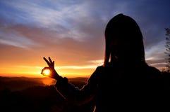 Silhouette girl Stock Image