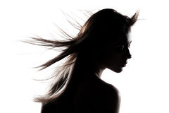 Silhouette girl portrait Royalty Free Stock Photos