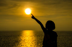 Silhouette of girl. Stock Image