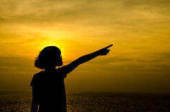 Silhouette of girl. Stock Photography