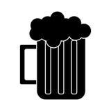 Silhouette glass beer mug foam cold drink. Vector illustration eps 10 Stock Images