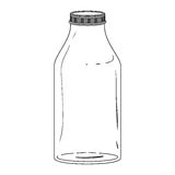 Silhouette glass bottle with lid Stock Image