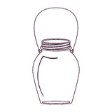 Silhouette glass jar decorative with handle Stock Photos