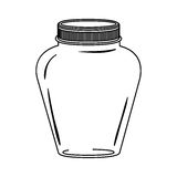 Silhouette glass jar decorative with lid Royalty Free Stock Images