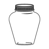 Silhouette glass jar decorative with lid Royalty Free Stock Photography