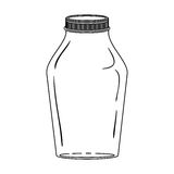 Silhouette glass jar with lid Stock Images