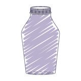 Silhouette glass jar with purple stripes Royalty Free Stock Image
