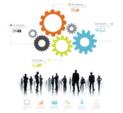 Silhouette of Global Business People Info graphic Stock Images