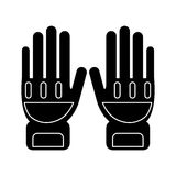 Silhouette gloves protection fireman elements Royalty Free Stock Photos