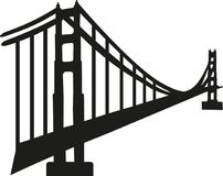 Silhouette of golden gate bridge. Vector Stock Images