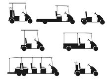 Silhouette of golf cart. Stock Images