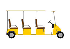 Silhouette of golf cart. Royalty Free Stock Photography