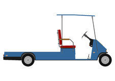 Silhouette of golf cart. Royalty Free Stock Photos