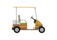 Silhouette of golf cart. Stock Photo