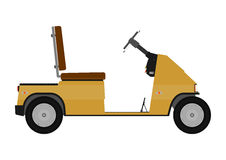 Silhouette of golf cart. Royalty Free Stock Image