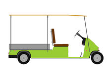 Silhouette of golf cart. Royalty Free Stock Images
