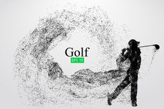 Silhouette of a golf player. Vector illustration Stock Photo