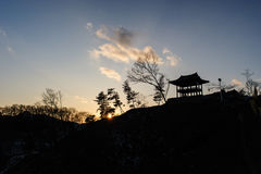 Silhouette of Gongsanseong Royalty Free Stock Image