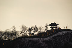 Silhouette of Gongsanseong Royalty Free Stock Photos