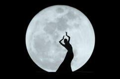Silhouette gracieuse de danseur Image stock