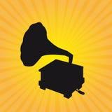 Silhouette gramophone Royalty Free Stock Photo