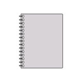 Silhouette gray scale spiral notepad. Vector illustration Royalty Free Stock Images