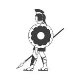 Silhouette of a Greek warrior Stock Photos