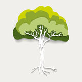 Silhouette green tree vector Royalty Free Stock Photo
