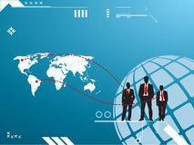 Silhouette of group of business men Stock Images