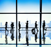 Silhouette Group of Business People Urban Scene Concept stock photography