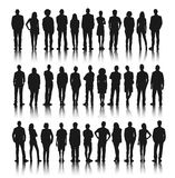 Silhouette Group of People Standing Stock Image
