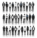 Silhouette Group of People Standing Royalty Free Stock Photography