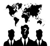 Silhouette of group unknown people Stock Images