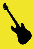 Silhouette of a guitar royalty free stock images