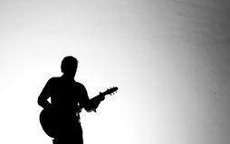 Silhouette guitar player Royalty Free Stock Image