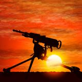 Silhouette of gun, the symbolize of the war. Silhouette of gun, the symbolize of the war on vector graphic art stock illustration