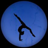 Silhouette gymnastique Photos libres de droits