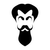 Silhouette hair, eyebrows, mustache and beard Stock Image